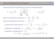 85. Electric Field and Electric Potential