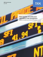 Risk Appetite A Multi-Faceted Approach