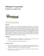 Whirlpools supply chain evolution.docx