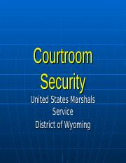 CourtRoomSecurity.ppt