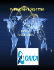 The Managing of a Supply Chain.ppt