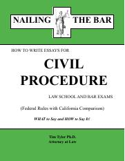 Civil procedure essay