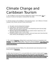 Climate Change and Caribbean Tourism.docx