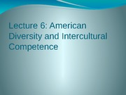 Lecture Note 06 - American Diversity and IIC l