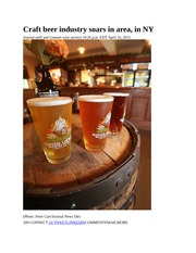 Craft beer industry soars in area - POK Journal 4-17-2015