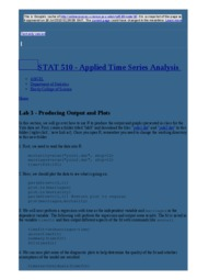 node10 Lab 3 - Producing Output and Plots   STAT 510 - Applied Time Series Analysis
