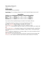 Statistics--Decesion Making Notes