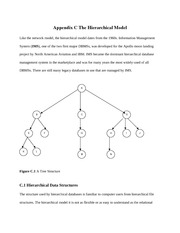Appendix C-The Hierarchical Model
