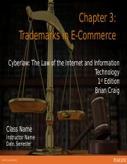 Ch 3 Trademarks in Ecommerce