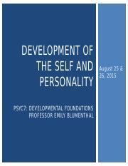 PSYC7SSII2015_Lecture12&13_Self&Personality_ForClass