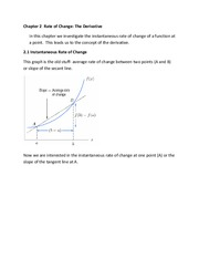 Rate of Change-The Derivative