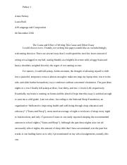 Cause and Effect Essay- Purkey