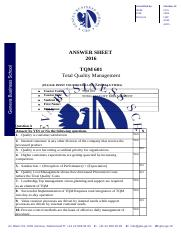 TQM EXAM - ANSWER SHEET F.DOCX