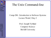 COMP 206 Lecture Week 2 Day 2 - Command Line