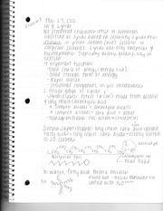 Chemistry Test Eight Review Notes