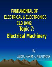 Topic 6 Electrical Machinery.ppt
