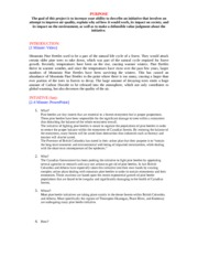 Intiatives Written Report