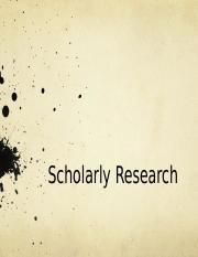 ScholarlyResearch