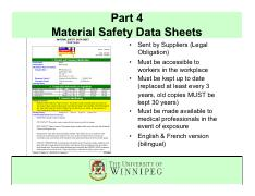 Part 4_Material Safety Data Sheets_WHMIS U of W July 2012