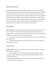 COMM 439 lecture notes on Online Accounting Systems