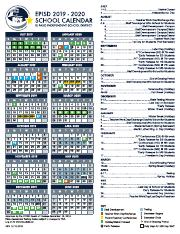 Episd Calendar 2020 2019 20 EPISD Student Calendar Final.pdf   JULY 2019 JANUARY 2020