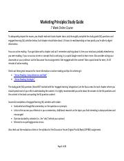 STUDY GUIDE_Summer_2016_Marketing_Principles