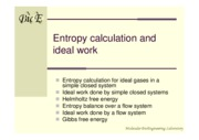 9-Entropy calculation and ideal work(new)