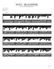 STAY - BLACKPINK pdf - STAY BLACKPINK no qr p s(Arr by