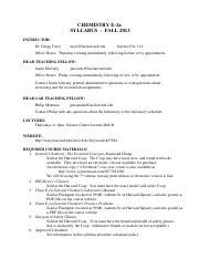 ChemS1_2018_Syllabus pdf - CHEMISTRY S-1AB SYLLABUS HARVARD