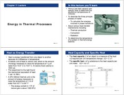 Lecture 11- Energy in Thermal Processes