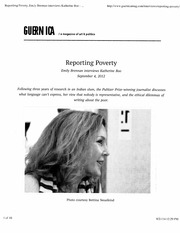 ReportingPoverty Assignment