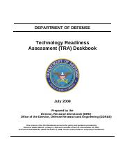 Technology Readiness Assessment (TRA) july 2009