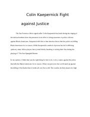 Colin Kaepernick Fight against Justice.docx