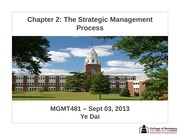 Session 03 - Chapter 2 The Strategic Management Process