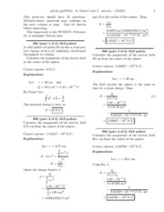 6. Gauss's law 2 -solutions