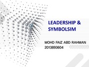 LEADERSHIP AND SYMBOLISM