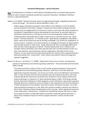 Annotated Bibliography_General Education Resources_sp13