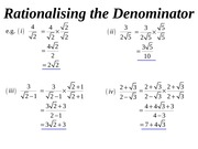 04 rationalising the denominator