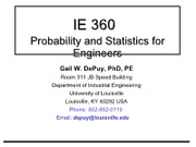 IE360 lecture notes - part 1 of 2