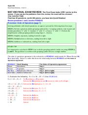 MAT 090 Final Exam Review Solutions - DETAILED Version (6)