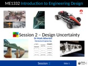 Session 2 - Uncertainty in Design