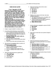 BMB 401-506 Fall 2007 Exam1KEY