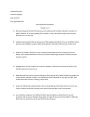 case application for risk and mangement chap 1,2,3
