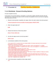 7.1.1.6 Worksheet - Research Docking Stations