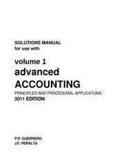 ADVANCED ACCOUNTING - VOLUME 1