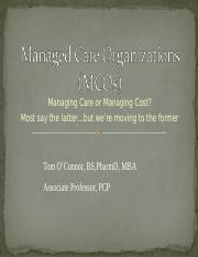 Managed Care Organization & Mission