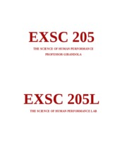 EXSC 205 COVER SHEET