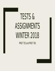 Tests & assignments Winter 2018.pptx