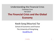 L8 The Financial Crisis and the Global Economy