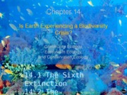 Bio 100 Chapter 14 - Extinction Lecture